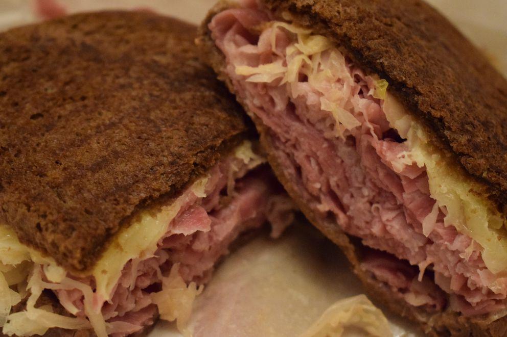 A Reuben sandwich at Mo's Deli. (Mara Severin/ADN)