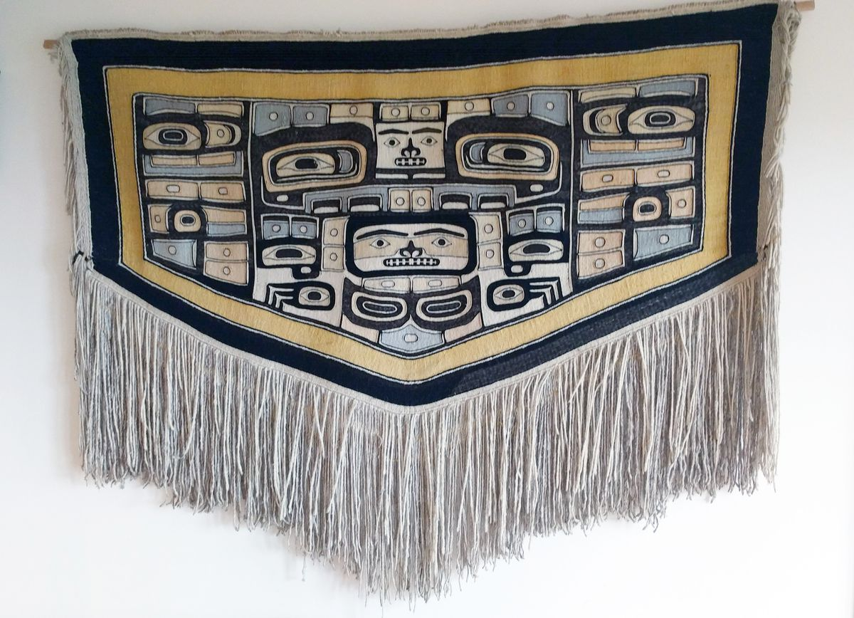A one-of-a-kind Chilkat robe, woven in the late 1800s or early 1900s, has been given to the Sealaska Heritage Institute by a family in Seattle. The gift will be celebrated Aug. 26, 2017, at the Walter Soboleff Building in Juneau. (Sealaska Heritage Institute)