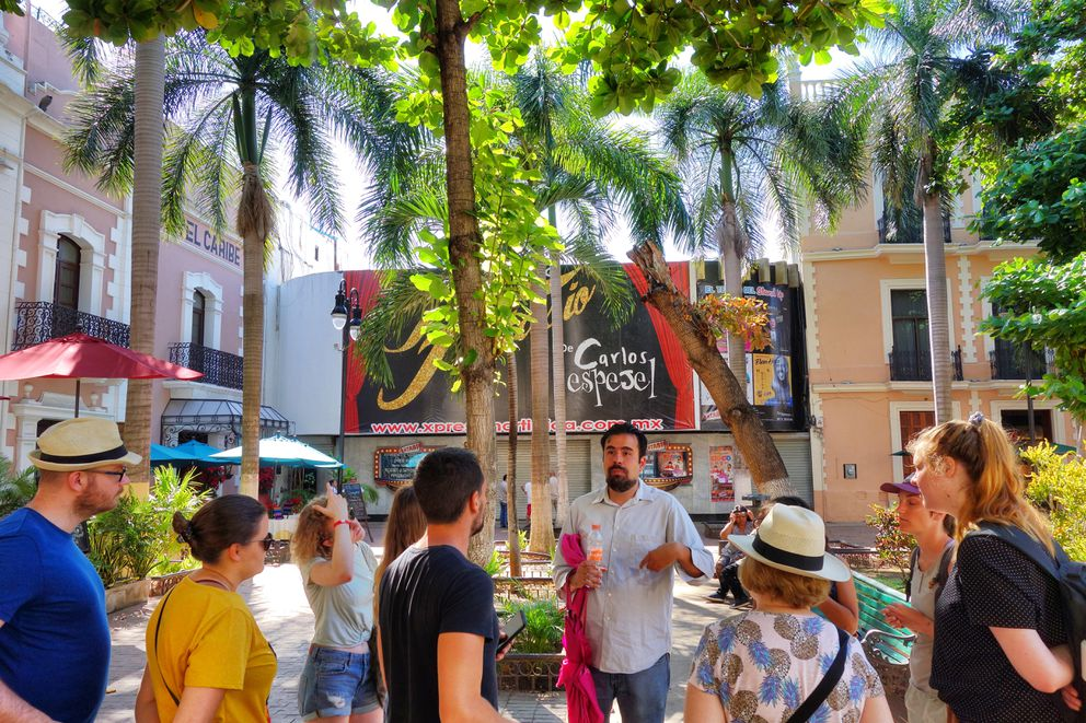 Ivan was our guide on the free walking tour of Merida's historic district. Sponsored by the local visitors bureau, the tour offers a good overview of the culture, economics and history of this city of almost 1 million people. (Scott McMurren)