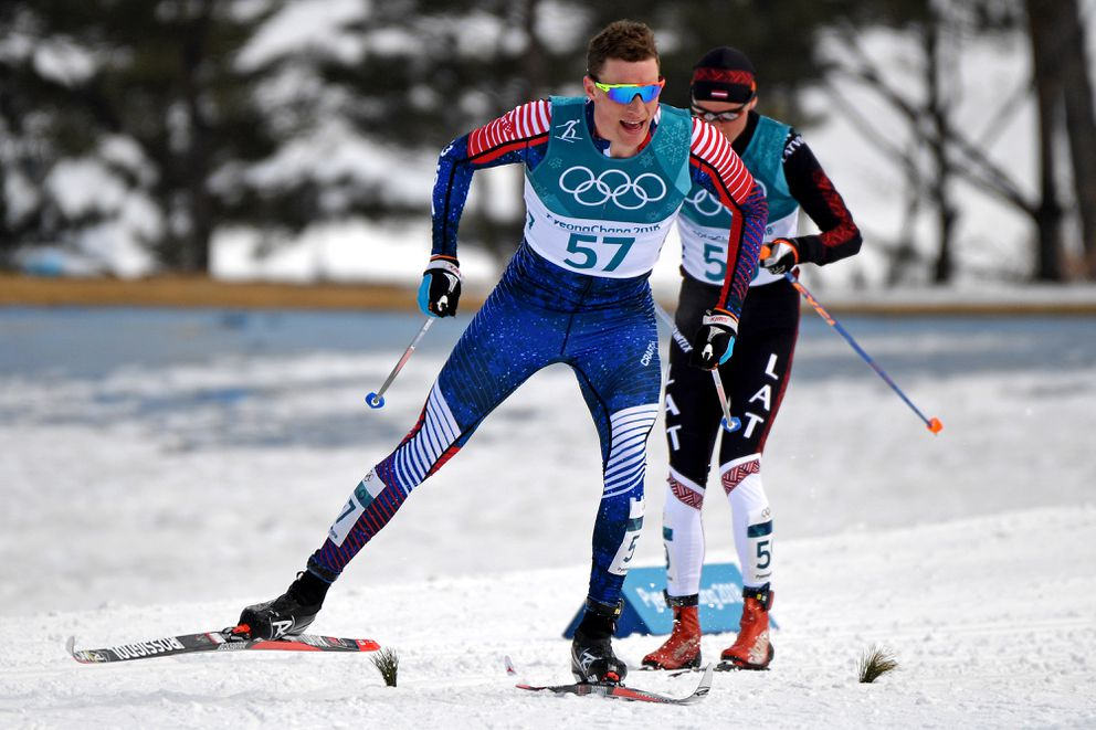 Tyler Kornfield of Anchorage finished 48th in his second Olympic race. (Andrew P. Scott / USA TODAY Sports)