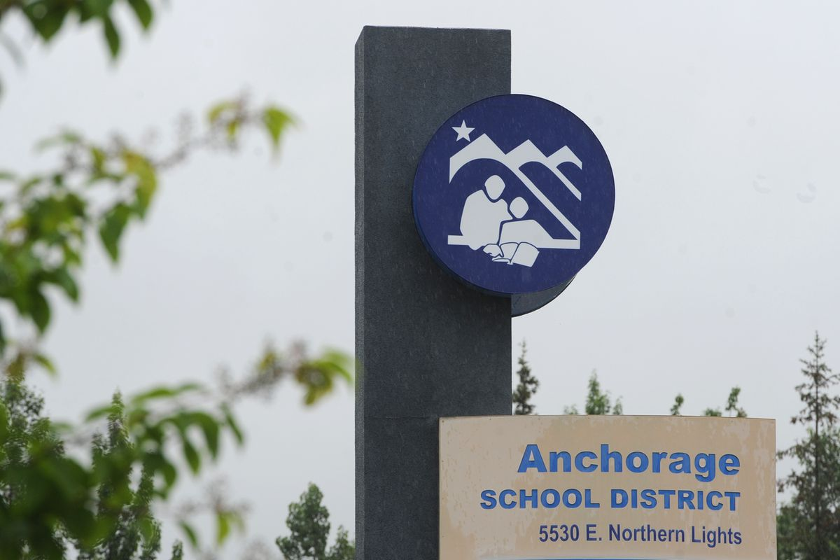 Anchorage School District building on Wednesday, July 8, 2020. (Bill Roth / ADN)