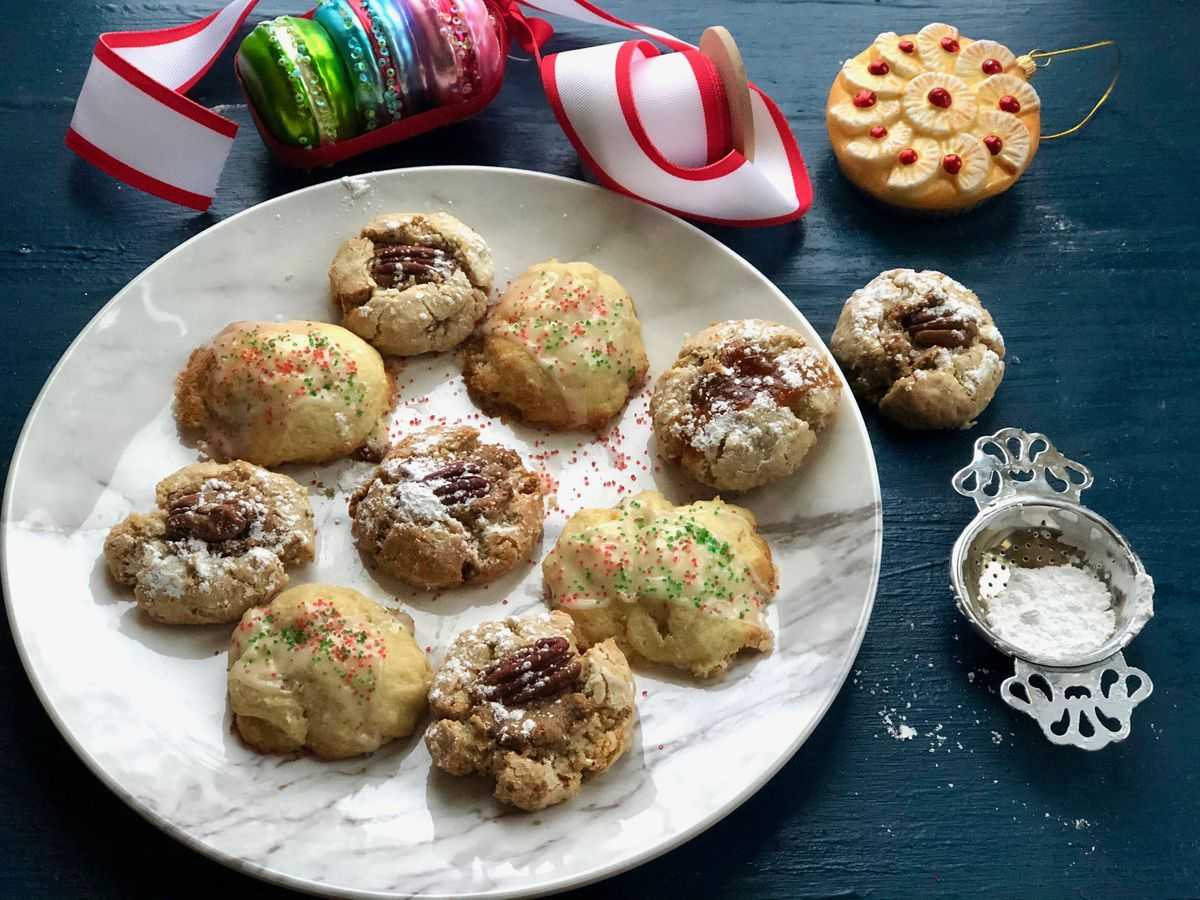 Pecan thumbprints and holiday ricotta