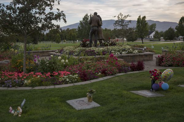 The infant section of the Lehi City Cemetery, where Penny Mae Cormani, a toddler who died after ingesting heroin, is buried, in Lehi, Utah, Sept. 18, 2017. Increasingly, parents and the police are encountering toddlers and young children unconscious or dead after consuming an adult's opioids. (Kim Raff/The New York Times)