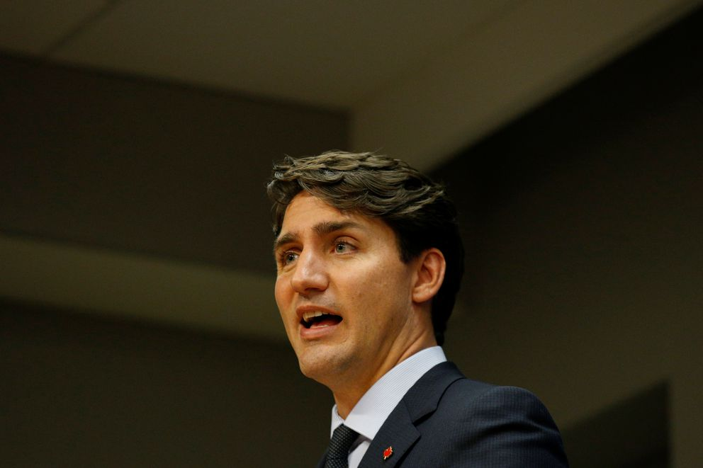 Canadian Prime Minister Justin Trudeau speaks during a news conference after addressing the 72nd United Nations General Assembly in New York, September 21, 2017. REUTERS/Brendan McDermid