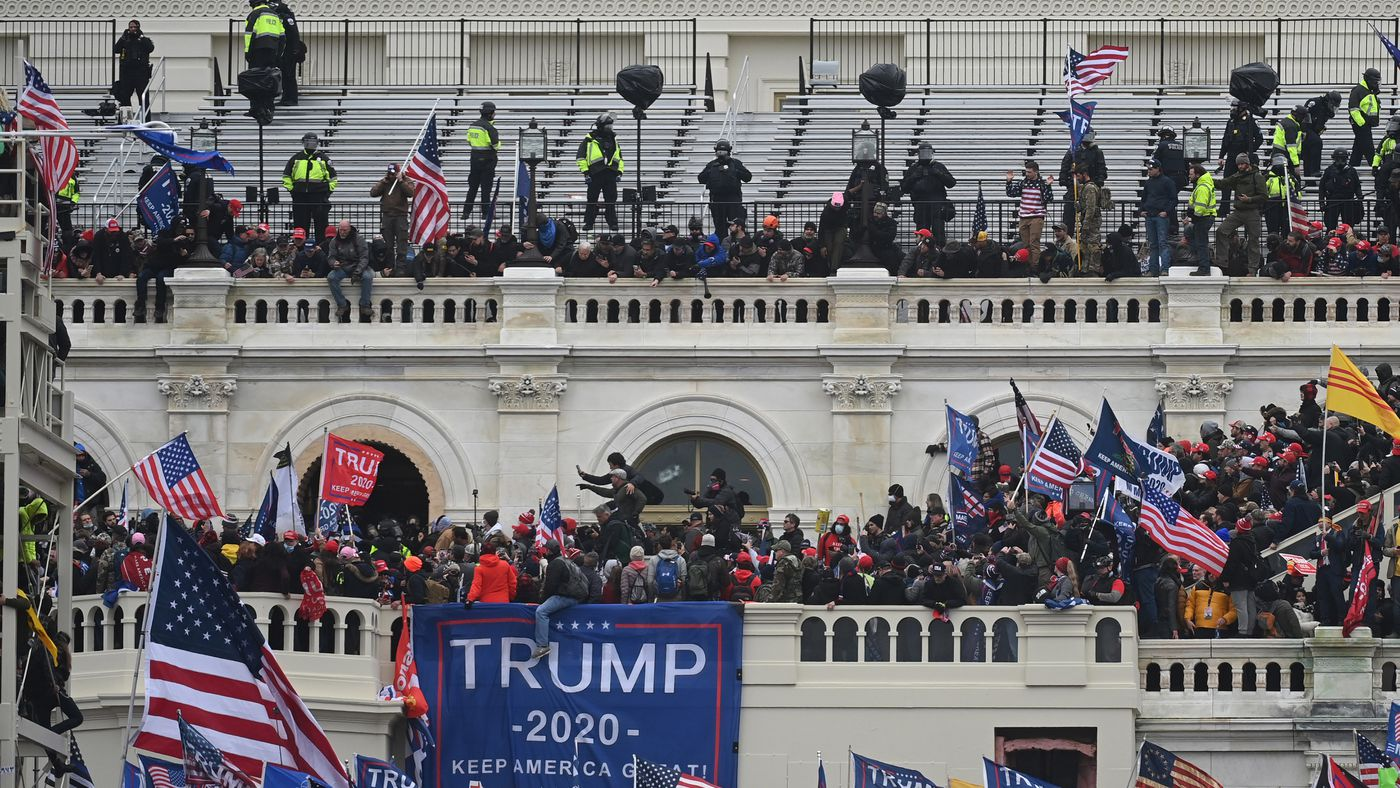 A mob riots at the Capitol on Wednesday, Jan. 6, 2021. Washington Post photo by Matt McClain