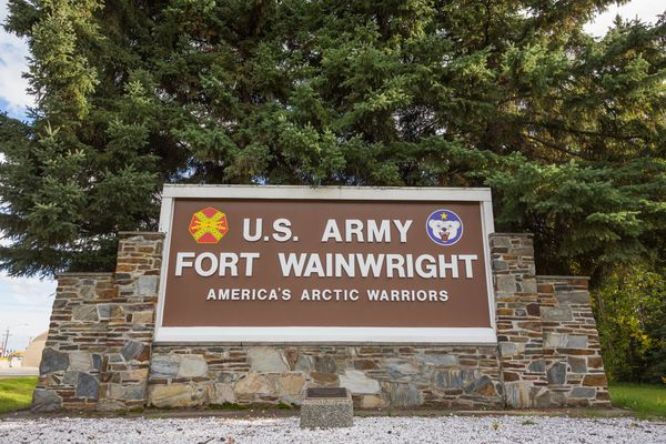 Fort Wainwright army base, photographed on September 9, 2015.