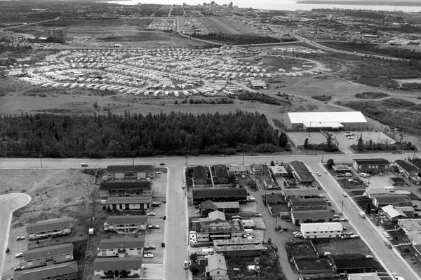 Northway Mall Site, Penland Mobile Home Park, June 1979. (Anchorage Daily News archive)