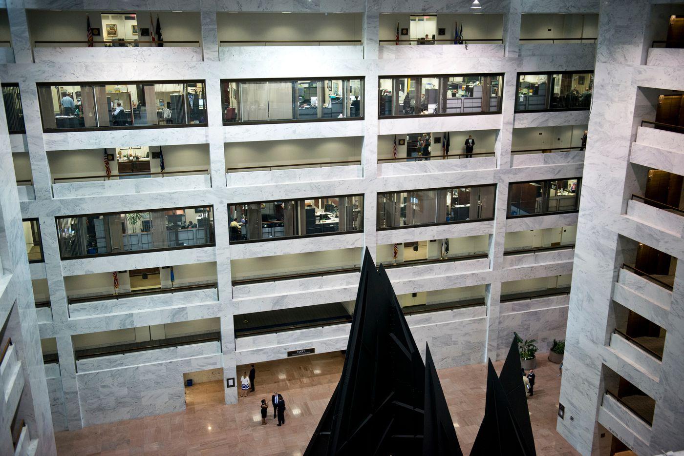 The Hart Senate Office Building houses both Sen. Lisa Murkowski and Sen. Dan Sullivan's offices. (Marc Lester / Alaska Dispatch News )