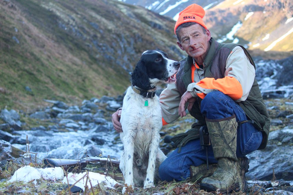 Winchester and Steve Meyer in the Kenai Mountains in October of 2012. (Photo by Christine Cunningham)