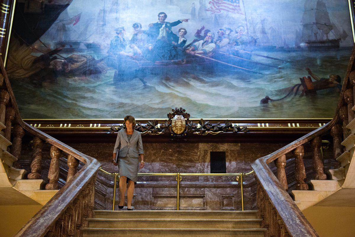 Sen. Lisa Murkowski heads to the Senate chamber at the U.S. Capitol onJune 24, 2015, in Washington, D.C. (Marc Lester / Alaska Dispatch News file)
