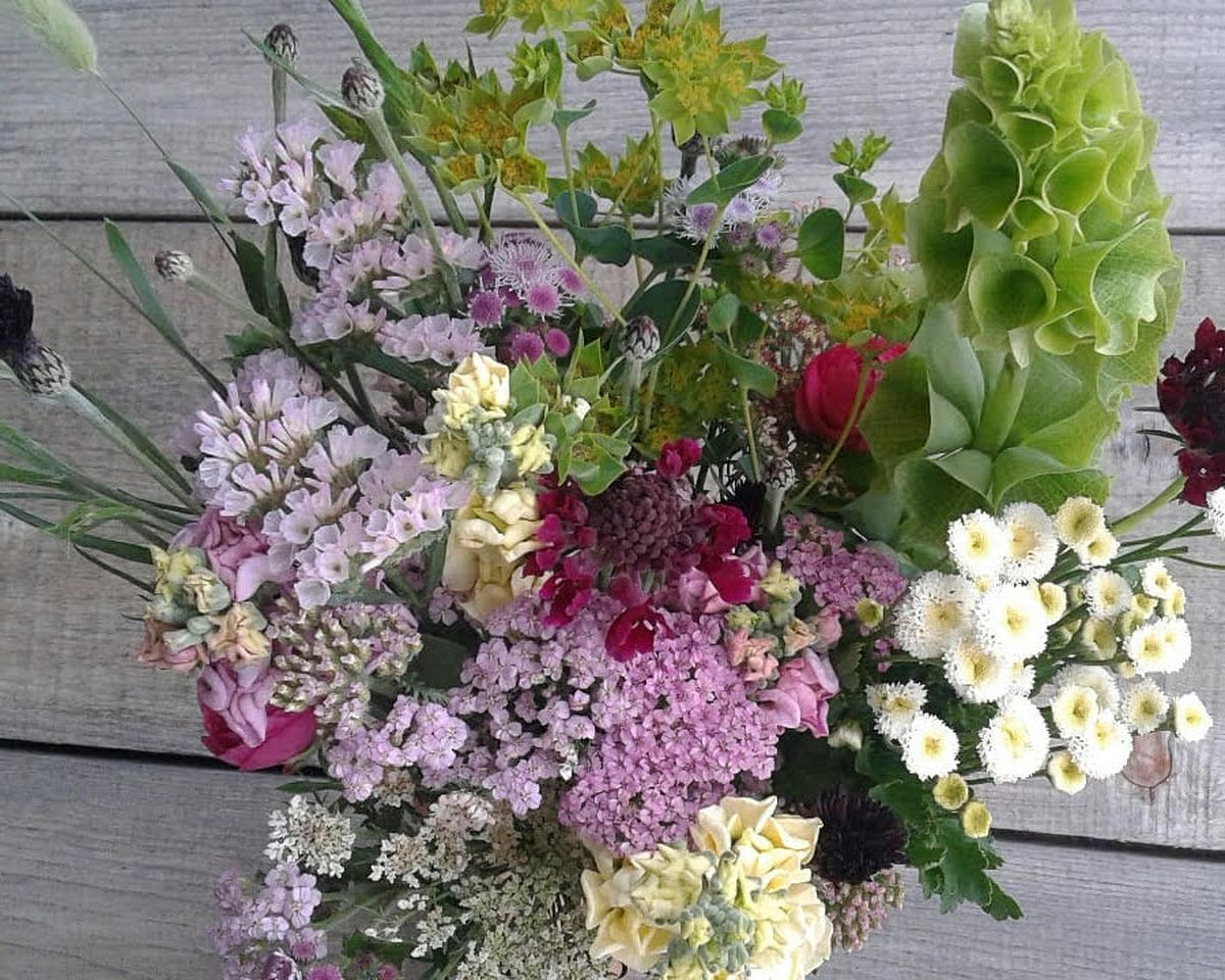 Bouquet from Brown Dog Farm.