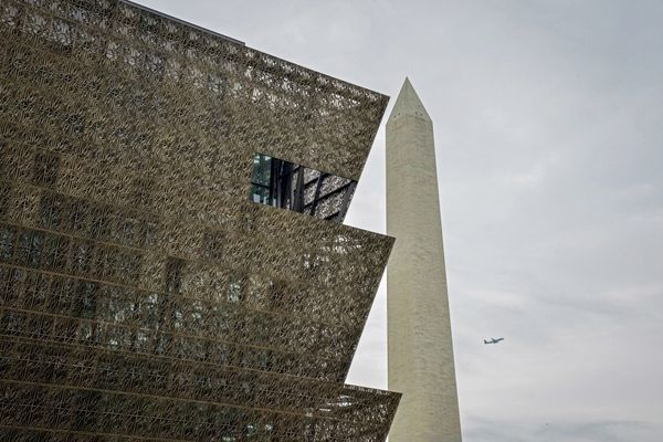 The National Museum of African American History and Culture, which opened in 2016, will allow visitors to enter without passes on weekdays in September. MUST CREDIT: Washington Post photo by Jahi Chikwendiu