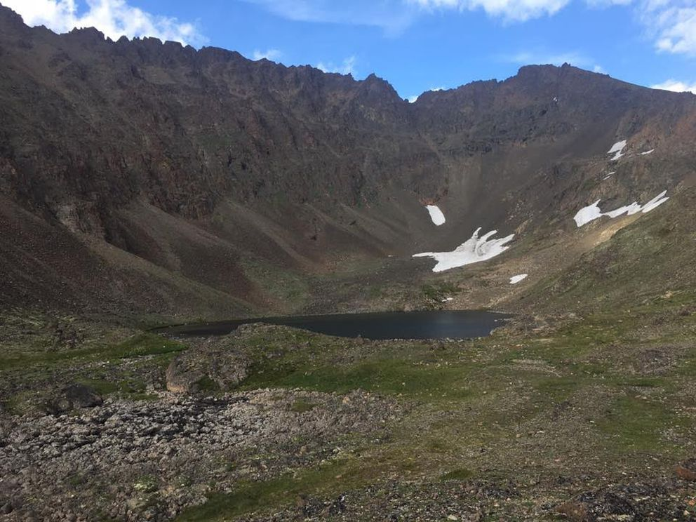 Hidden Lake in July 2017. (Photo by Nate Graham)