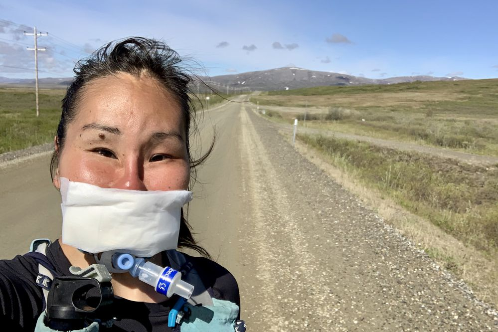 Carol Seppilu is going to run a 71 mile route on the Teller Road to raise awareness of suicide. (Photo by Carol Seppilu)
