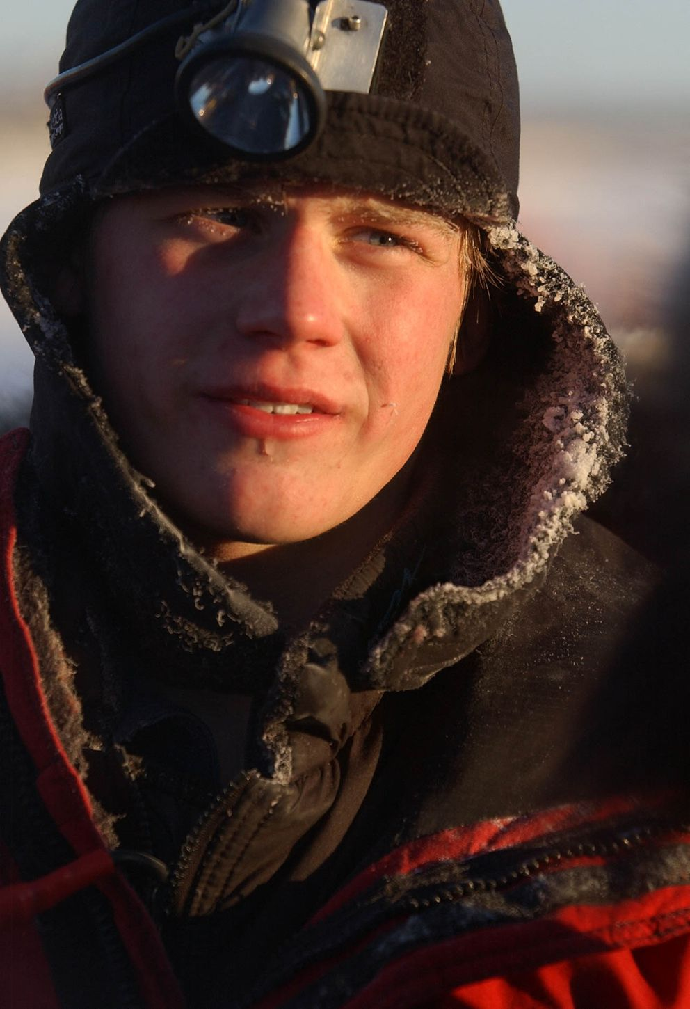 Sixteen-year-old Dallas Seavey finished fourth in the Kuskokwim 300 on Jan. 18, 2004. (Marc Lester / ADN Archive 2004)