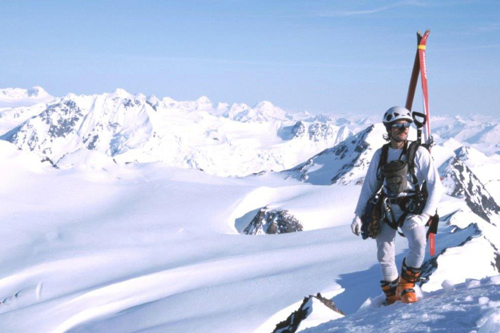 Wayne Todd on Rosy Peak in Chugach State Park in 2002. (Photo by Kathy Still)
