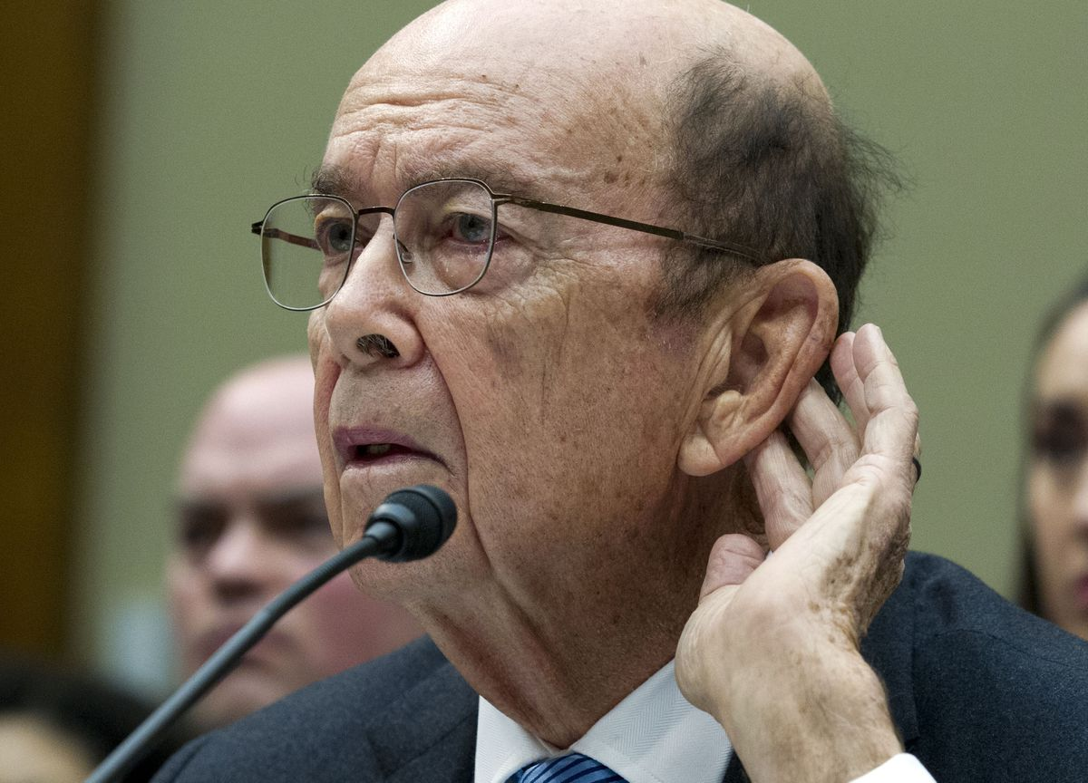 Commerce Secretary Wilbur Ross, who added a citizenship question to the 2020 census, testifies during the House Oversight Committee hearing on Capitol Hill in Washington, April 5, 2019. (AP Photo/Jose Luis Magana, File)
