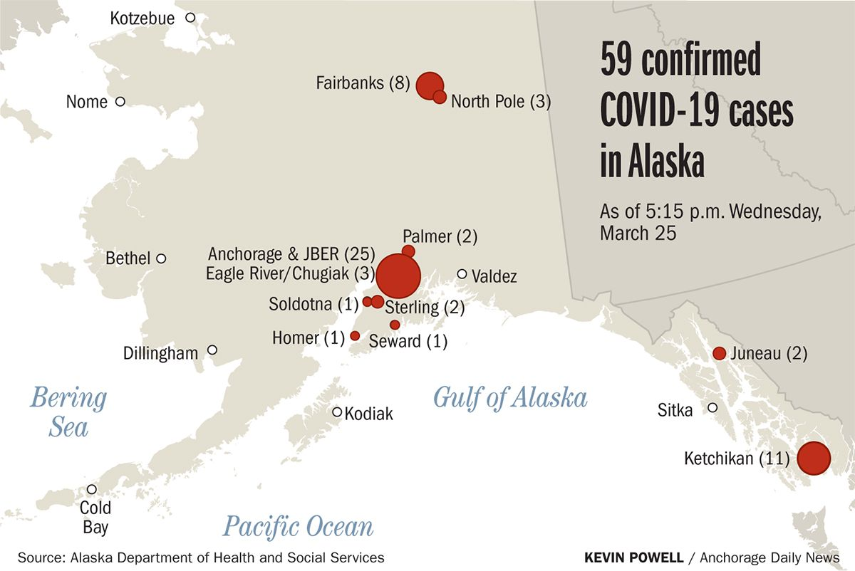 Eagle River Alaska Map 17 new confirmed COVID 19 cases in Alaska, with largest increase