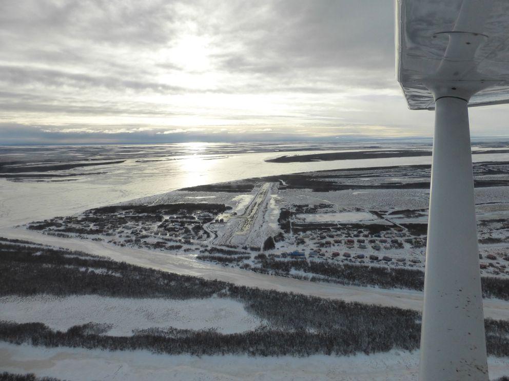A view of Napakiak on the Kuskokwim River. (Scott McMurren)