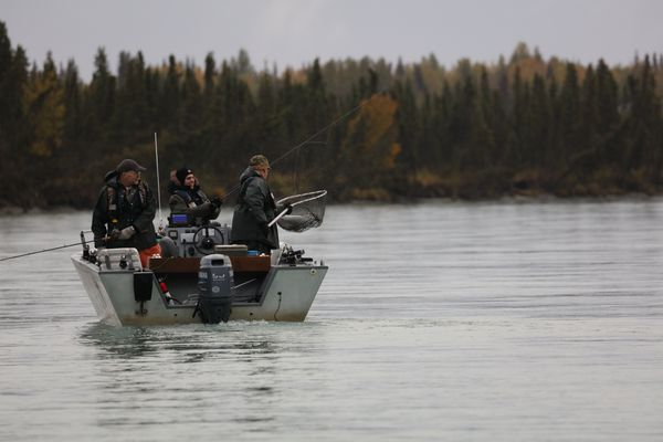 Fishing for silver salmon on the Kenai River. (Photo by Steve Meyer)