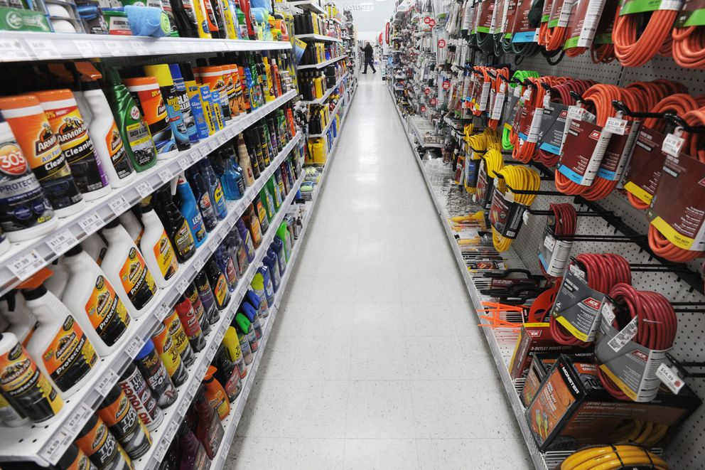 Andy's Ace Hardware in Muldoon on Wednesday, Nov. 20, 2019. The 7.1 earthquake rattled merchandise off the shelves into the aisles on Friday, Nov. 30, 2018, but the store remained open to serve its customers. (Bill Roth / ADN)