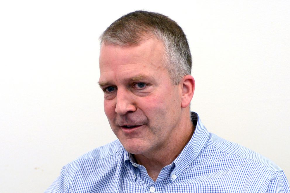 Sen. Dan Sullivan, shown here in July 27, 2016, says Russia's increased activity in the Arctic is emphasized in a new, as-yet-unreleased Defense Department Arctic strategy. (Erik Hill / Alaska Dispatch News)