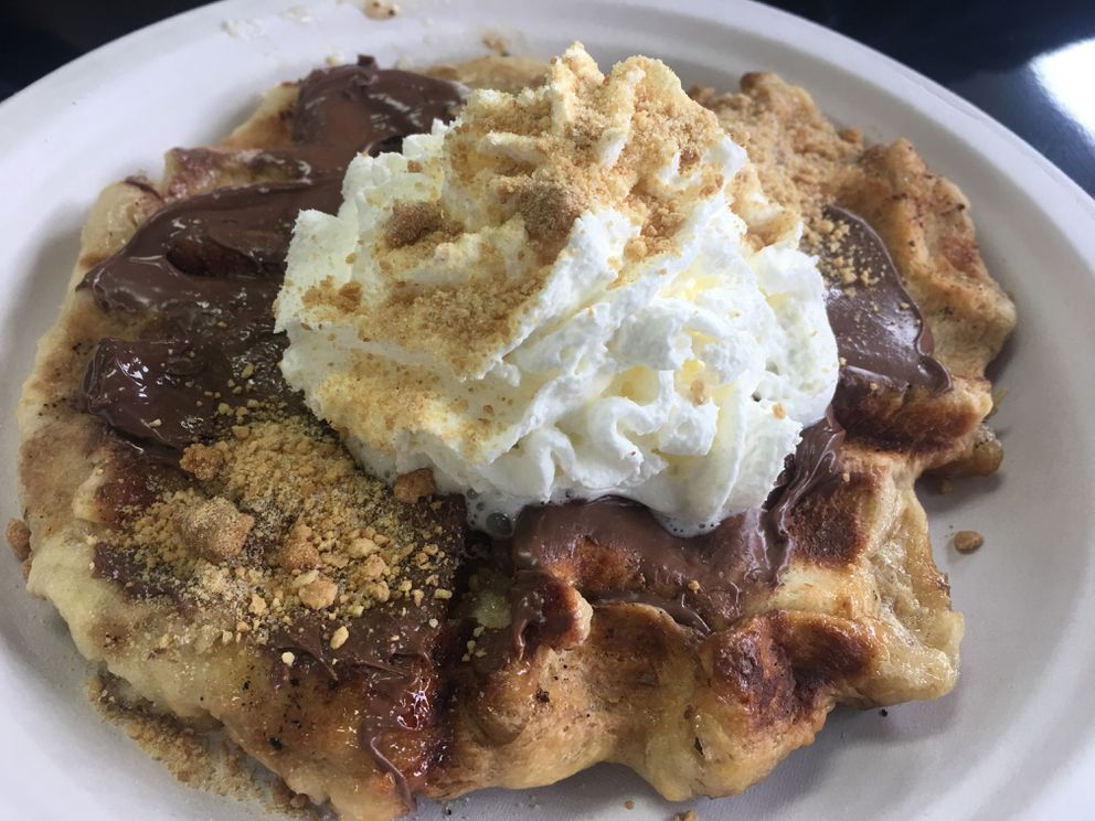 S'mores liege waffle from Waffle Rush in East Anchorage (Photo by Mara Severin)