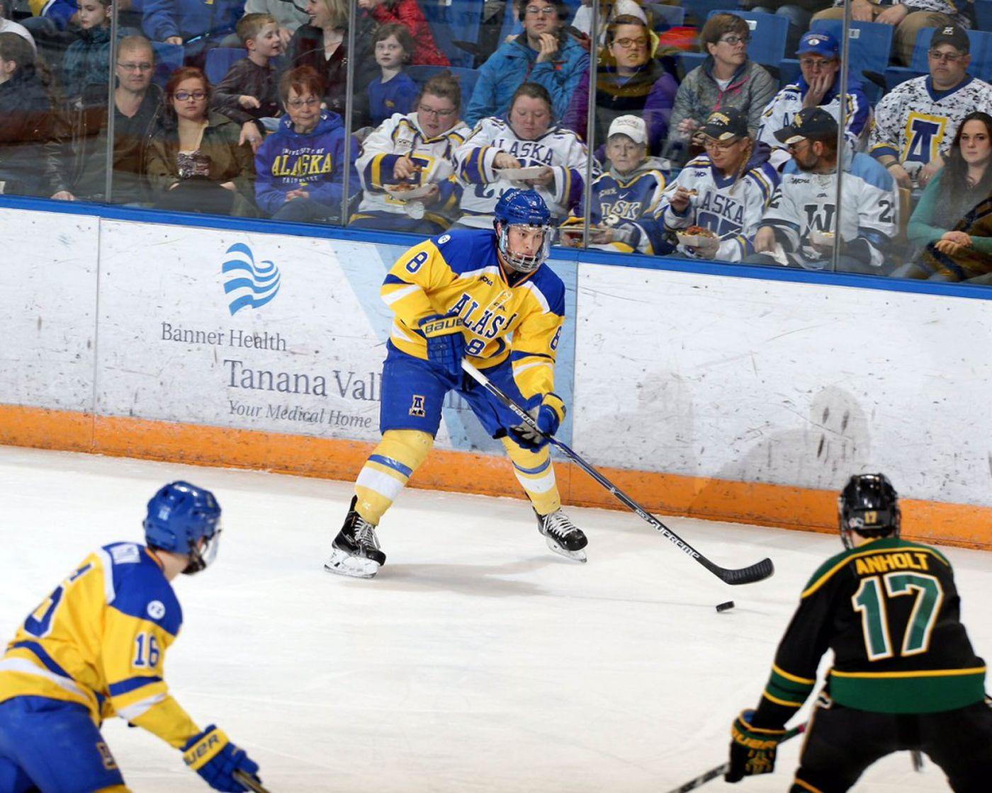 Justin Woods, playing for the UAF Nanooks. (Photo courtesy of University of Alaska Fairbanks Athletics)