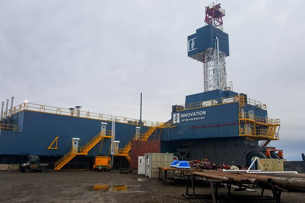 Hilcorp Alaska's new drill rig Innovation, which will support proposed development at Milne Point on Alaska's North Slope. (Handout photo / Hilcorp)
