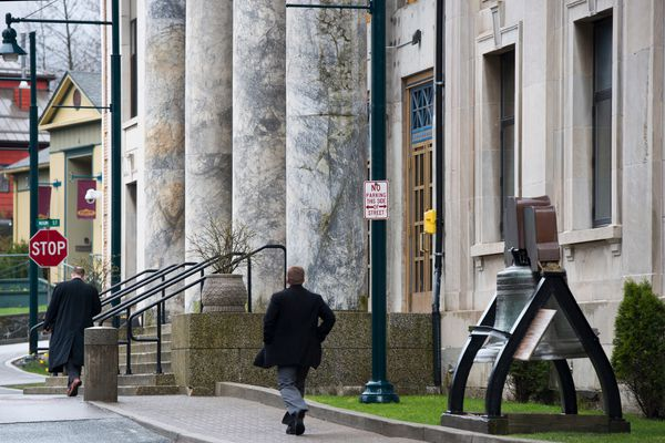 The State Capitol building in Juneau on Friday, April 17, 2015.