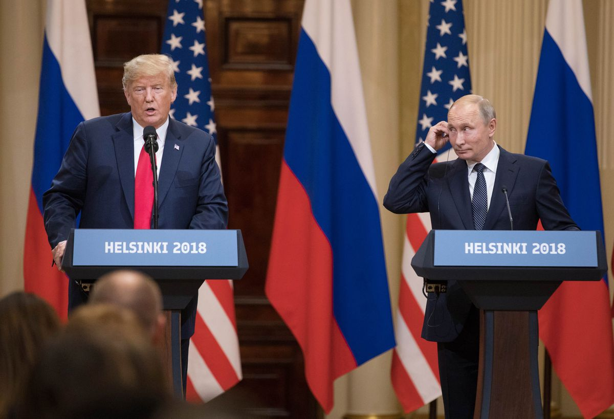 Including-a closed-door meeting in Helsinki in 2018, President Donald Trump has now met with Russian President Vladimir Putin five times. However, there's no detailed record, even in classified files, of Trump's face-to-face interactions. Bloomberg photo by Chris Ratcliffe