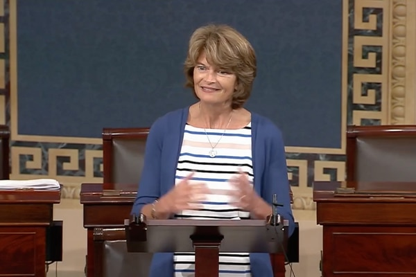 Murkowski screen grab U.S. Senate tribute to John McCain