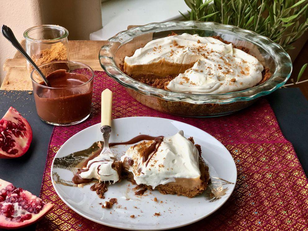Easy caramel pie. (Kim Sunee)