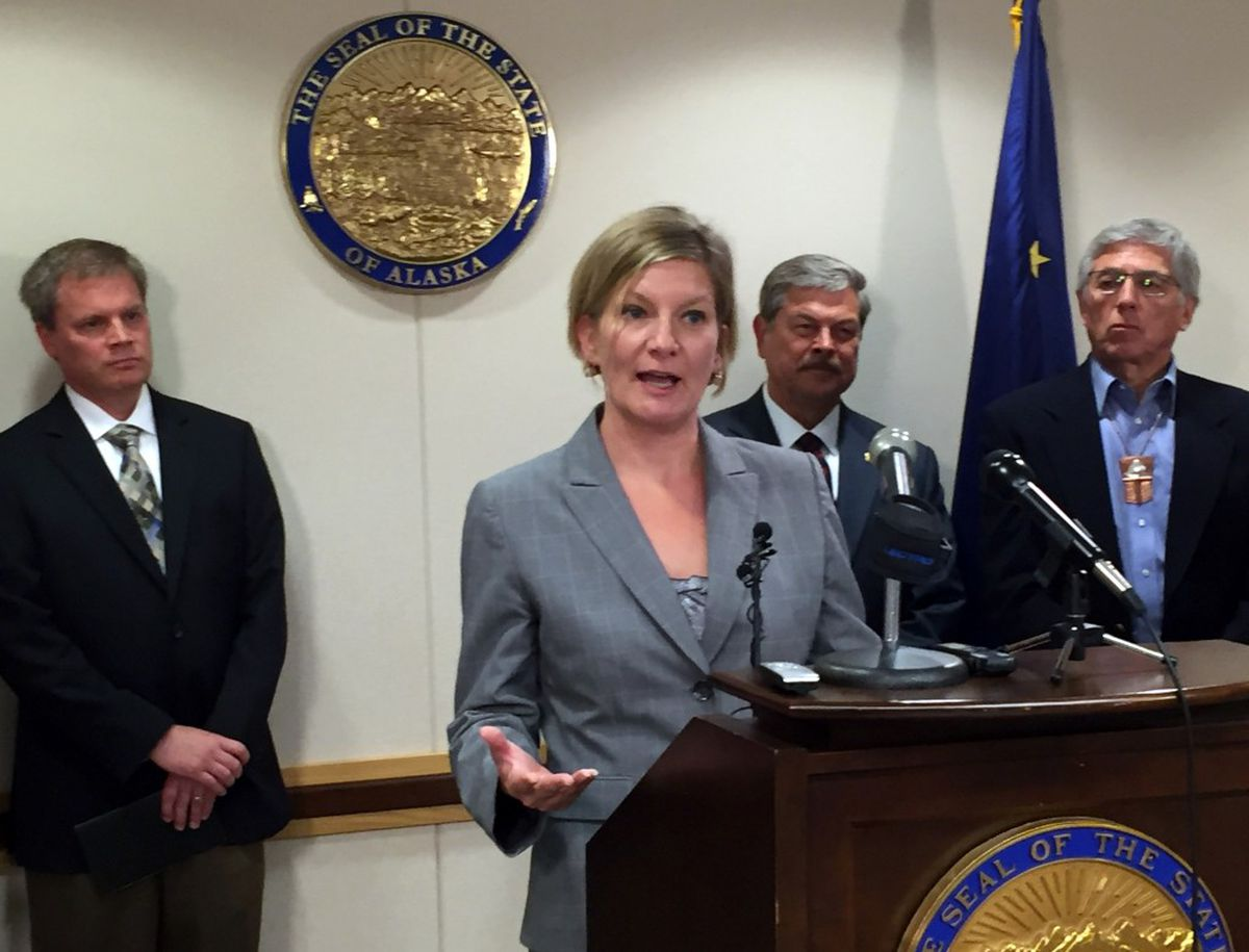 Jahna Lindemuth was introduced as Alaska's new attorney general on Tuesday afternoon, June 28, 2016, at the Atwood Building downtown. (Erik Hill / Alaska Dispatch News)