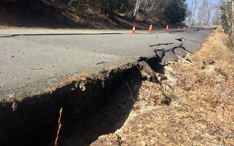 The road leading to the Eagle River Campground suffered extensive damage in the Nov. 30, 2018 earthquake. The road has been repaired at a cost of about $108,000, according to state officials who reopened the campground to the public on June 7, 2019. (Matt Tunseth / Chugiak-Eagle River Star)
