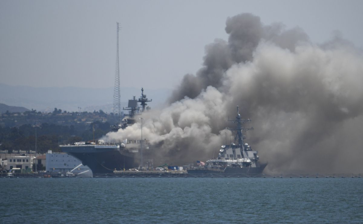 Fire suppression system inoperable when blaze erupted aboard...