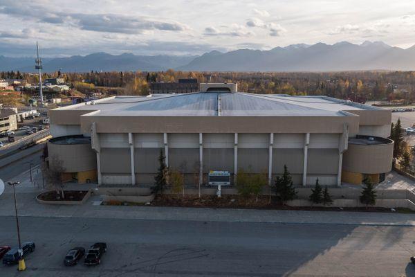The Sullivan Arena, photographed Thursday, Oct. 12, 2018. (Loren Holmes / ADN)
