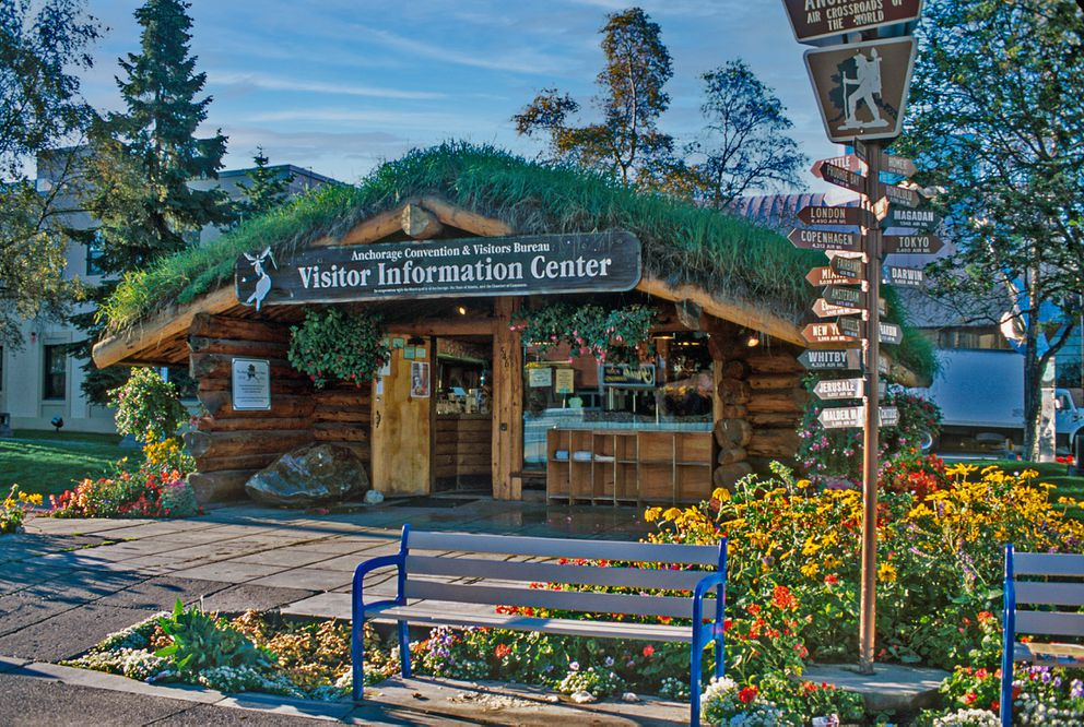 The Visitor Information Center, in central Anchorage, connects travelers with Alaska Railroad schedules, tourist attractions, flight tours, restaurants and hotels in the city and throughout the state. (Steve Haggerty/ColorWorld/TNS)
