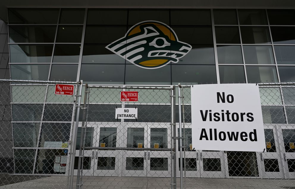 The Alaska Airlines Center has been converted into an alternative care facility. (Anne Raup / ADN)