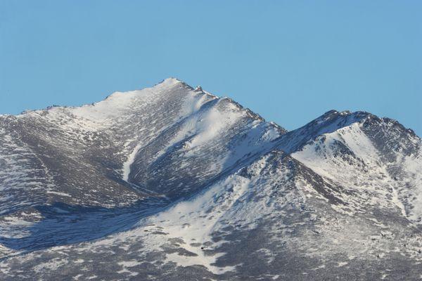 Wolverine Peak in the Chugach Mountains on Monday, Feb. 15, 2016.