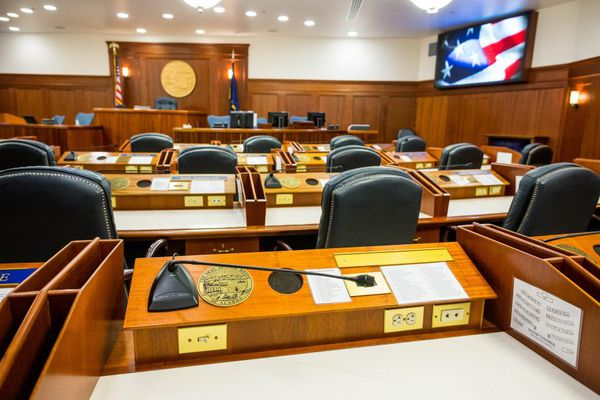 (Loren Holmes / ADN) The Alaska House chamber at the Capitol building in Juneau