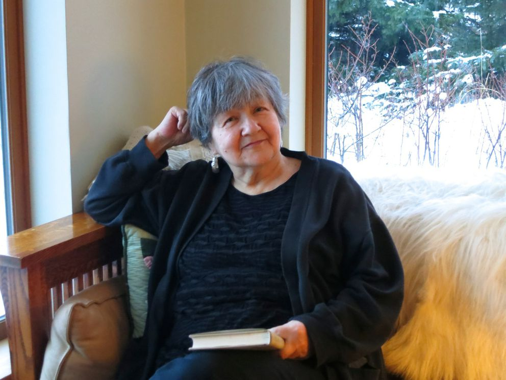 Ernestine Hayes waits for the weather to clear in Haines. (Photo by Heather Lende)
