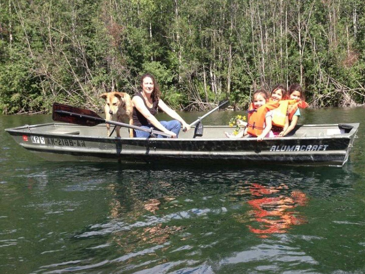 The three oldest Flores-Quackenbush girls are with their grandmother Susan Secco one day in summer 2015 on Kepler Lake. (Courtesy of Susan Secco)