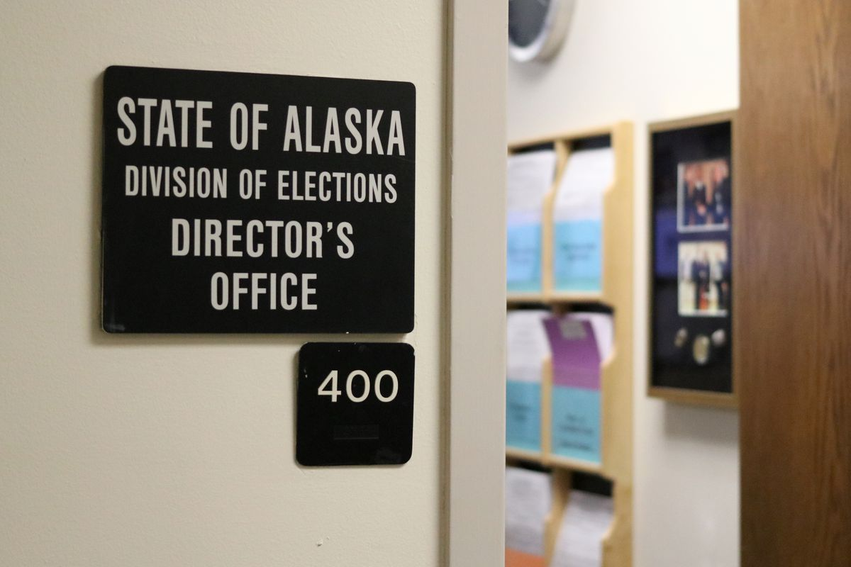 The Alaska Division of Elections office in Juneau. (Nathaniel Herz / ADN)