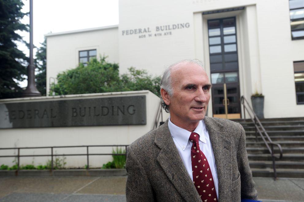 Alaska Dispatch News attorney Cabot Christianson following a bankruptcy hearing on Monday. (Erik Hill / Alaska Dispatch News)