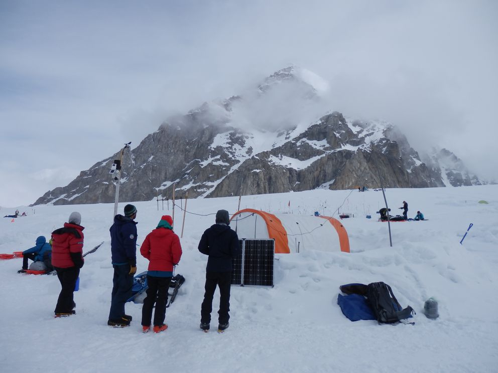 Denali climbers are in base camp in early June 2017. (Courtesy of Martin Takac)