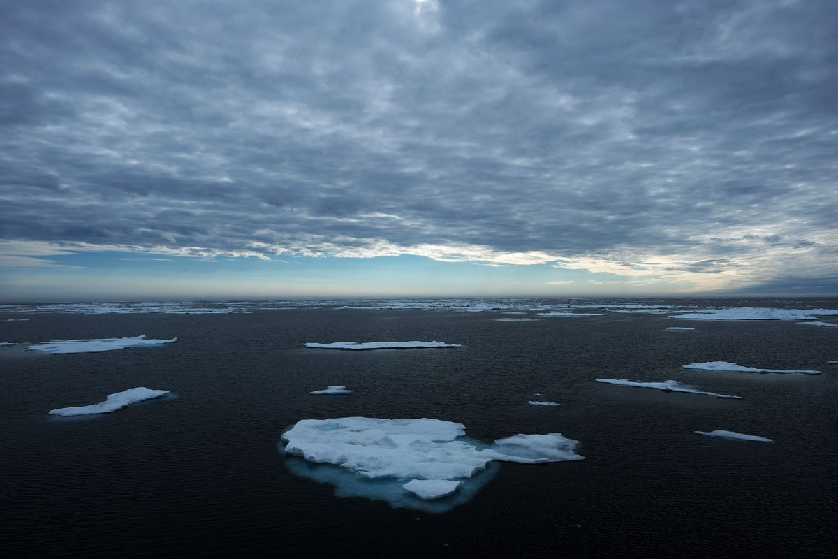 Arctic drift ice floats by. (Bonnie Jo Mount / The Washington Post)
