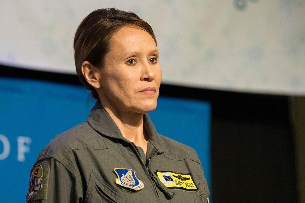 Master Sergeant Tanna Lee Carter. (Loren Holmes / ADN)