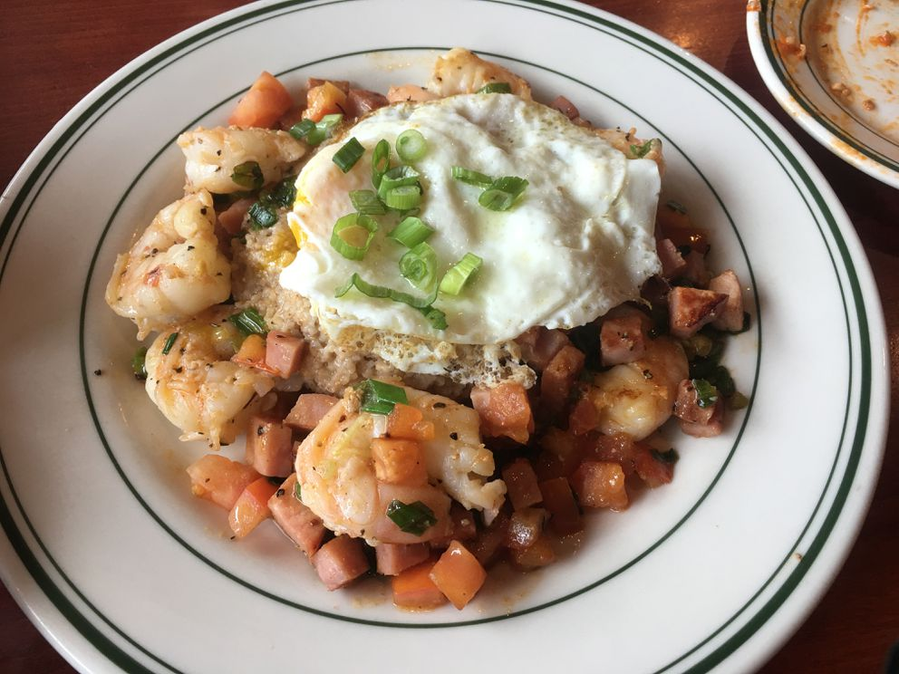 Shrimp and grits at Table 6 in Midtown Anchorage. (Photo by Mara Severin)