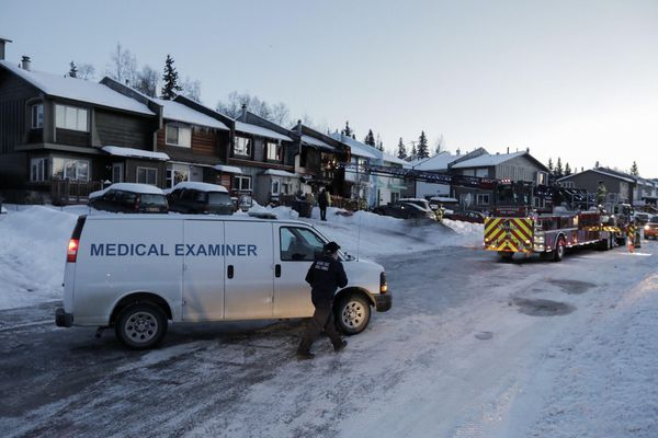 Three people died in a townhouse fire in Fairview early Friday. (Loren Holmes / ADN)